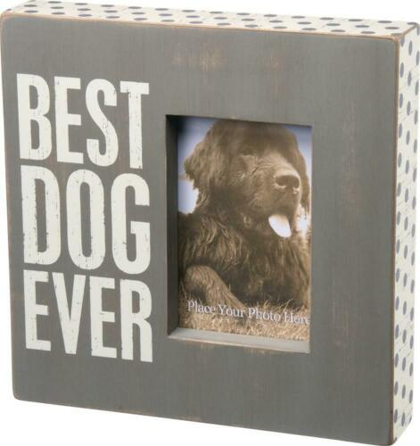 Best Dog Ever ~ Fun & Lighthearted Large Box Picture Frame for Dog Lovers