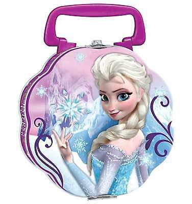 Disney Frozen Anna & Elsa Double Sided Tin Treasure Lunch Box, Brand New