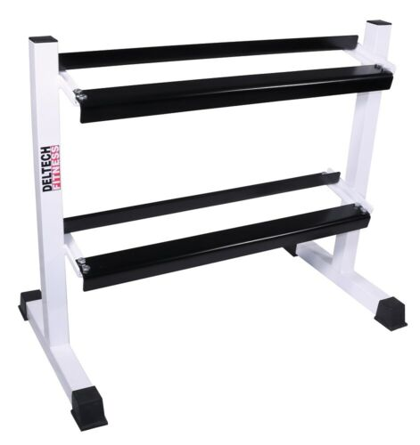 """DF511- Deltech Fitness 38"""" Two Tier Hex Dumbbell Rack- MADE IN USA!"""