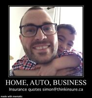 Free insurance quotes (home, auto, business)