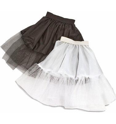 Kinder Fifties Petticoat Tüll Unterrock 50er 60er Jahre Retro Kostüm (50 60 Kostüme)