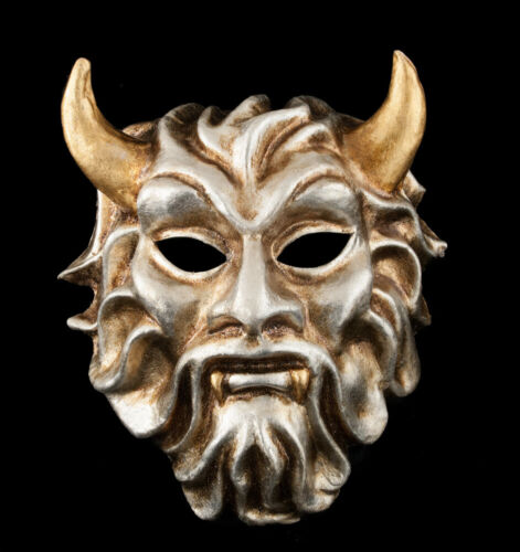 Mask from Venice Devil Silver IN Paper Mache Of Collection 1820