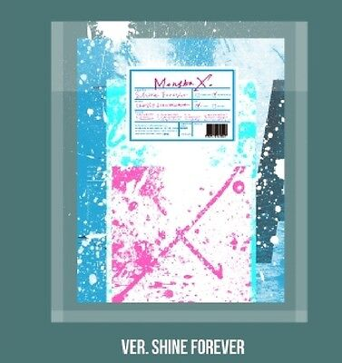 MONSTA X 1st Repackage Album SHINE FOREVER MAIN A Ver. CD+88p Booklet+9p Sticker