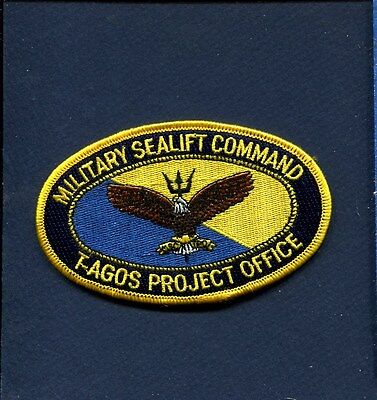 Military Sealift Command Ships - MSC MILITARY SEALIFT COMMAND T-AGOS Project Office US Navy Ship Squadron Patch