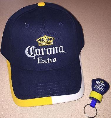 Corona Extra Beer Navy Blue Baseball Cap Hat New & Boxing Glove Keychain