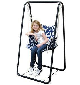 Swing Set Metal Frame Indoor Outdoor Children Kids Garden Patio Hanging Chair