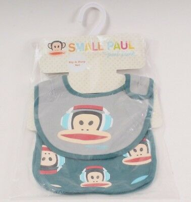 Small Paul by Paul Frank Bip & Burp Set for a Boy 100% Cotton DJ Monkey