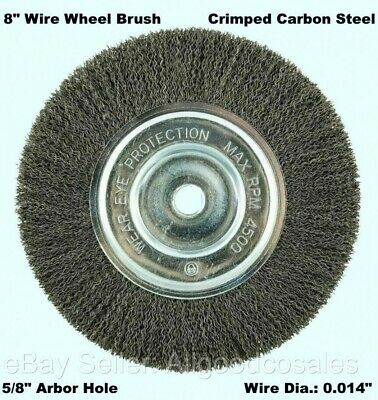 8 Wire Wheel Brush 0.014 Crimped Carbon Steel 58 Arbor Hole Grinder Angle