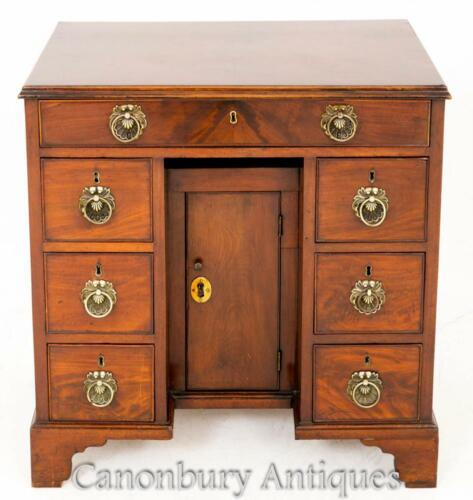Antique Knee Hole Desk - Georgian Mahogany 18th Century