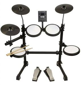 NEW RockJam Mesh Head Kit, Eight Piece Electronic Drum Kit with Mesh Head, Easy Assemble Rack and Drum Module includi...