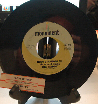 1967 Boots Randolph Big Daddy / Love Letters Monument 45-1038 45 rpm (Big Daddy Boots)