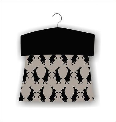 east2eden Hare Design Washing Line Hanging Textile Peg Storage Bag
