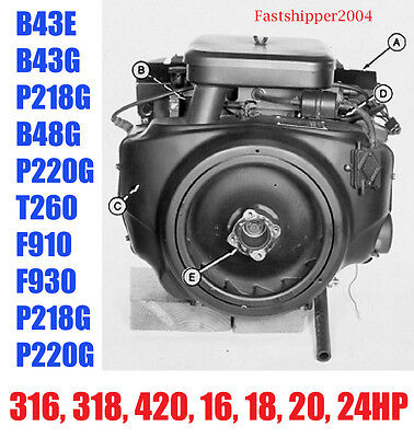 Onan Engines Service Manual John Deere 316 318 420 16 18 20 24hp 2 4 Cylinder