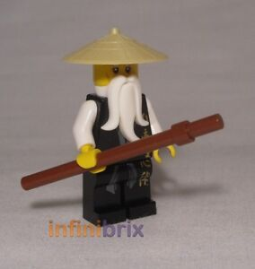 Lego Sensei Wu from sets 2255, 2507 Fire Temple + 2521 Dragon Battle NEW njo026