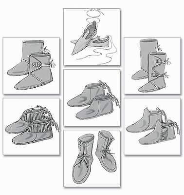 Schnittmuster Schuhe der Jahrhunderte;