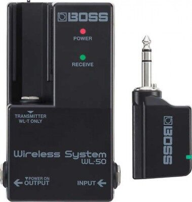 BOSS WL-50 Guitarra Inalámbrico Sistema Para Pedalera Integrado Rápido Enviar