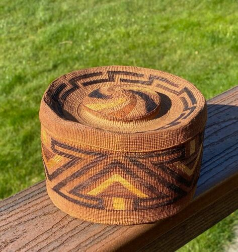 Early Tlingit Rattle-top Basket