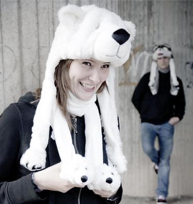 r Geschenk Weihnachten Tiermütze Polar Kuschelmütze Unisex NEU (Weihnachten Eisbär)