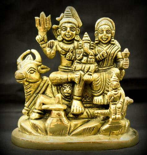 Shiv Parivar In Pure Solid Brass