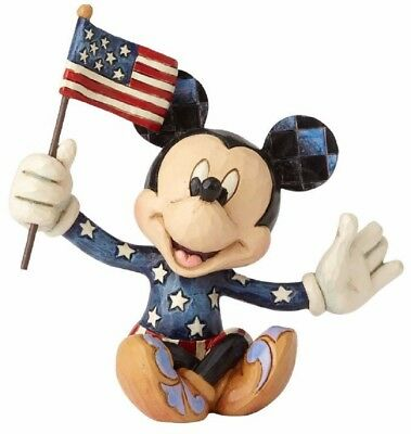 Jim Shore Disney Mini Patriotic Mickey Mouse with USA Flag Figurine 4056743 New