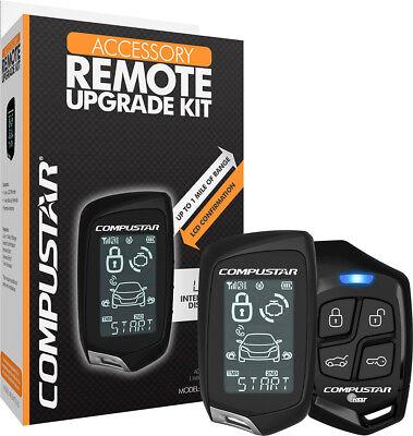 Compustar - 2 Way LCD Remote Upgrade Kit - Black 2 Way Upgrade Kit