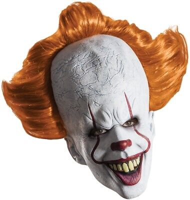 Pennywise IT Overhead Adult Latex Mask Creepy Halloween Movie Chracter Rubies (Creepy Halloween Movies)
