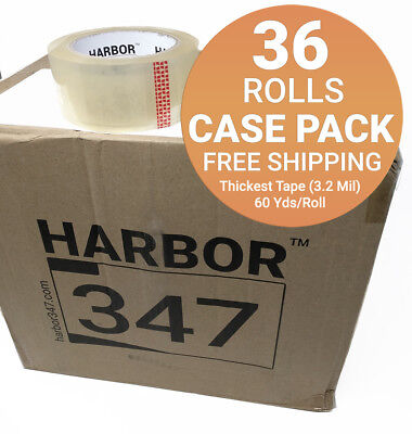 36 Rolls Harbor 347 Packaging Packing Tape 3.2 Mil 1.88 X 60 Yds Heavy Duty