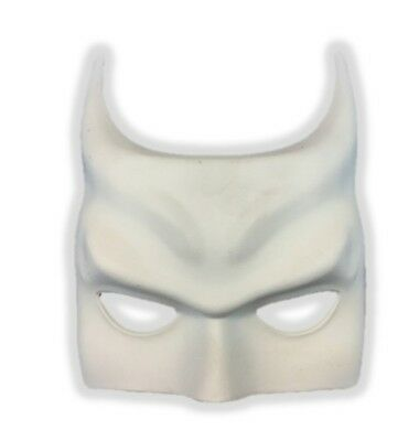 Paint Your Own Batman Inspired White Half Mask Costume Decor Crafts Bat DIY
