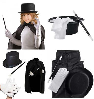 Fun Halloween Costumes For Teenage Girls (All in One Magic Set for Kids Halloween Magician Role Play Dress)