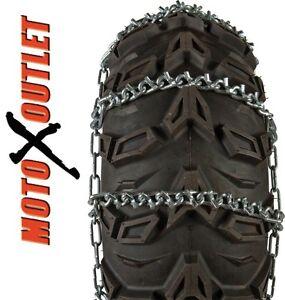 25X10-12 Atv Tire Chains V Bar 25X10X12 26x10-12  25 10 12 Snow Ice 26x10x12