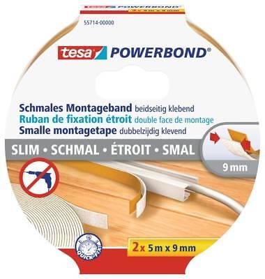 Tesa Powerbond Montageband - transparent, schmal, 5 m x 9 mm