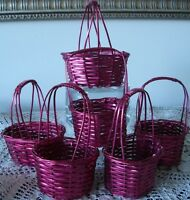 6 METALLIC RED BASKETS