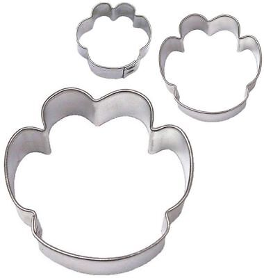 3 Piece Dog Cat Tiger Paw Paw print Cookie Cutter Set NEW! Kitty Treats - Kitty Paw