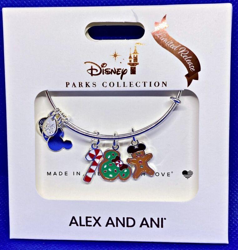 Disney ALEX & ANI bracelet CHRISTMAS Snacks Gingerbread Candy Cane LR - NEW