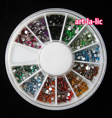 New Nail Art Rhinestones Glitters Acrylic Tips Decoration Manicure Wheel on Rummage