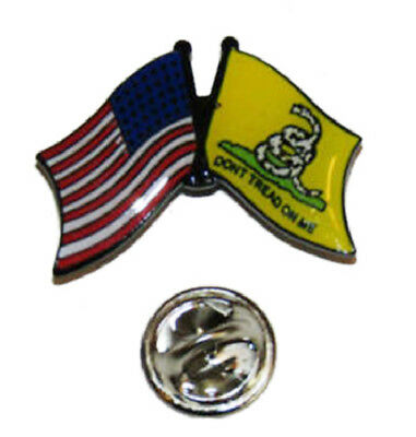 Used, USA American Gadsden Don't Tread on Me Flag Bike Motorcycle Hat Cap lapel Pin  for sale  Charleston