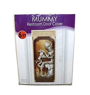 Beistle Mummy Plastic Bathroom Door Cover Halloween Decor, 72 X 30 inches - Halloween Mummy Door Decorations