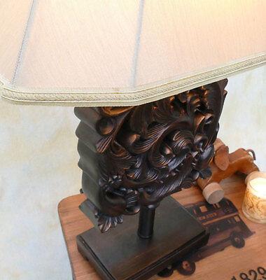 Tischlampe Lampe Tischleuchte Leuchte Ornament Schnitzerei  PQ010-b