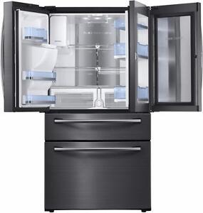 Réfrigérateur de 27,8 pi³ à portes françaises avec compartiment Food ShowCase Stainless Noir Samsung ( RF28JBEDBSG )