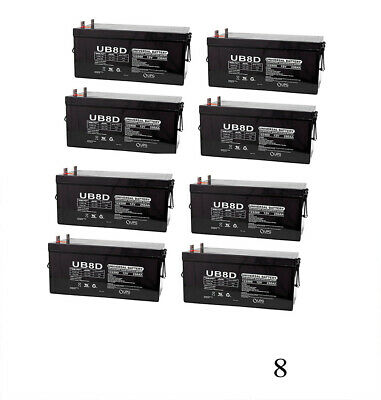 UPG 12V 250Ah SLA Battery Replacement for ATV / RV / Marine - 8 Pack