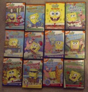 SPONGEBOB SQUAREPANTS DVDs & Book Collection (18)
