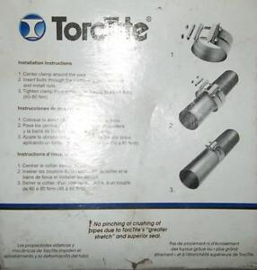 "1 - TORCTITE 3 1/2"" PREFORMED EXHAUST CLAMP ALUMINIZED STEEL Belleville Belleville Area image 3"