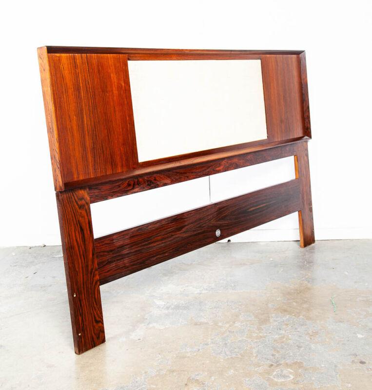 Mid Century Danish Modern Headboard Bed Frame Rosewood Queen Falster Madsen Mcm