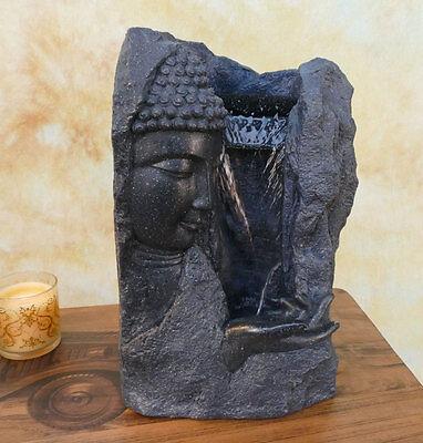 Zimmerbrunnen Springbrunnen Wasserwand Tischbrunnen Kaskade Buddha DW06-a (Springbrunnen Buddha Wasser)