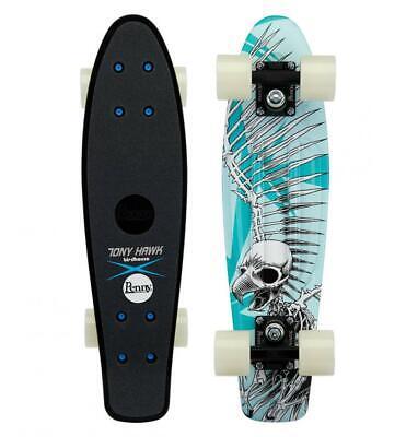 New Penny 22'' Hawk Full Skull Cruiser Complete Skateboard Blue 22 IN Full Skull Complete Skateboard