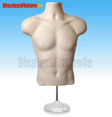 New Male Mannequin Form Hook Standtorso Men Display Manikin T-shirt - Flesh
