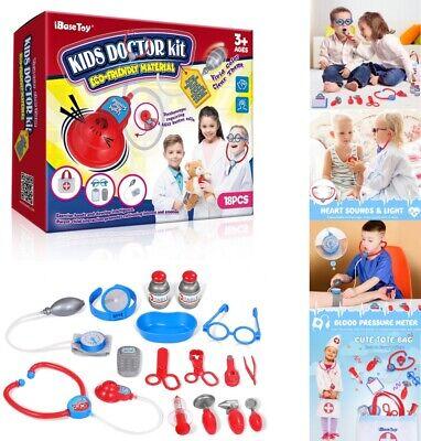 18Pcs Kids Doctor Set Mini Medical Box Doctors Kit Doctor Playset for Children