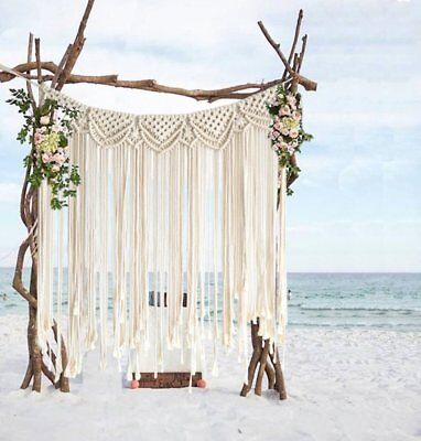Macrame Wall Hanging Boho Home Wedding Hanger Cotton Handmade