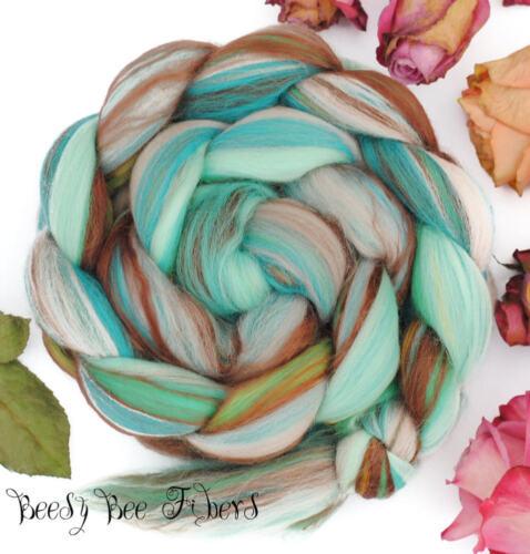 SLEEPING BEAUTY - Wool Roving Custom Blend Merino Silk Bamboo Combed Top 4 oz