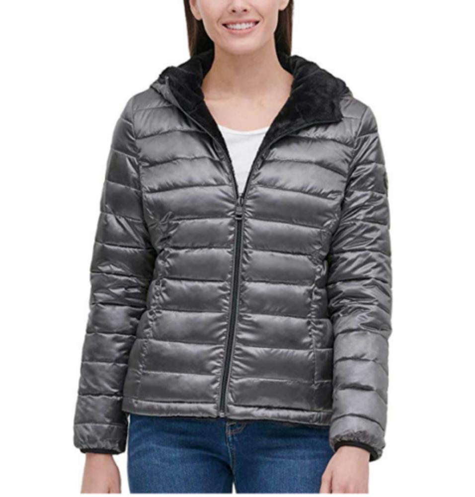 women s reversible puffer winter soft fur